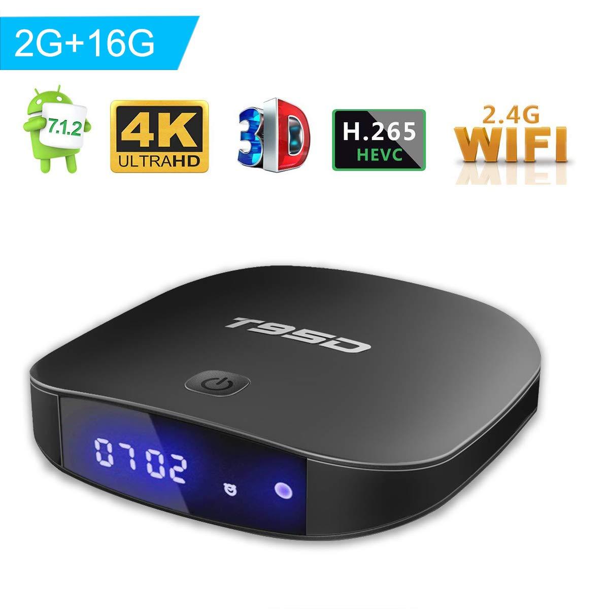 TRUEWELL T95D Android 7.1 tv box with 2GB RAM/16GB ROM Rockchip RK3229 Quad-core Support 2.4G Wifi 3D 4K Ultra HD BlueTooth improved version CJW