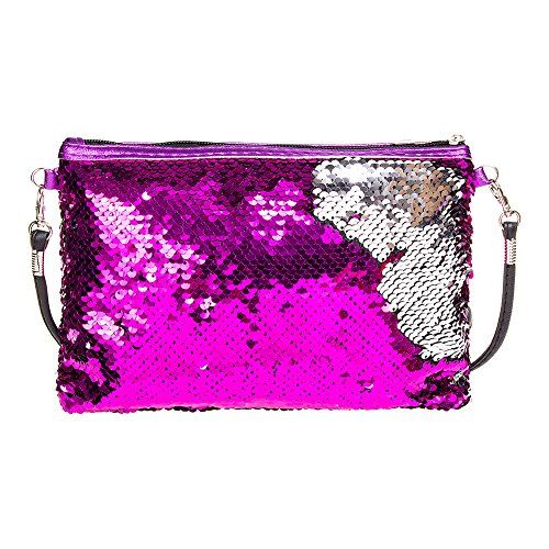 Sequin Blue Way Banana Clutch Blue Banana Two Pink Bag Hot ZqgFXx