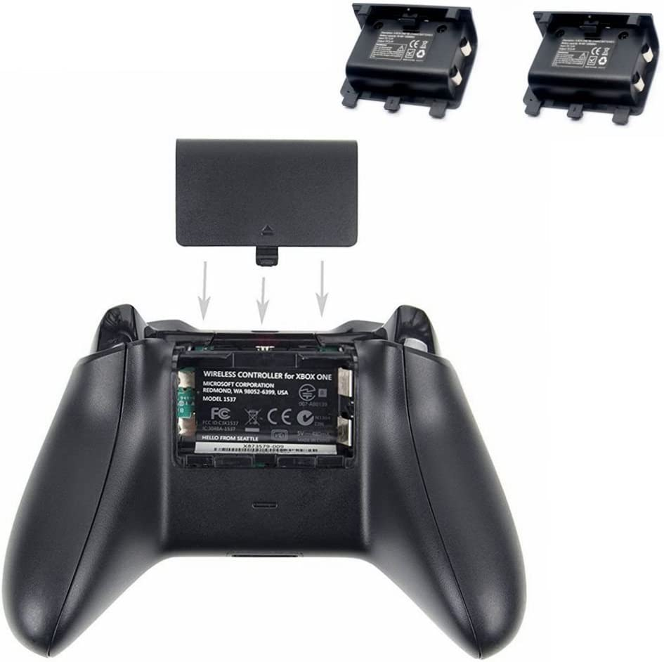Dual Controller Charging Station Charger Dock for Microsoft Xbox One Wireless Controller with Rechargeable Battery Packs: Amazon.es: Videojuegos