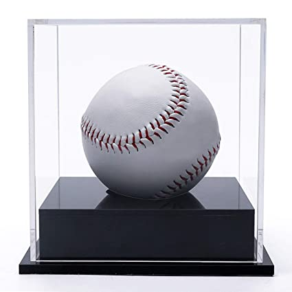 Amazoncom Supperacrylic Acrylic Baseball Holder Display Casecube