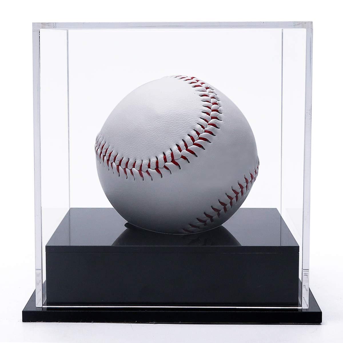 SupperAcrylic Acrylic Baseball HolderDisplayCase,Cube Baseball Holder,Clear Baseball Display Box