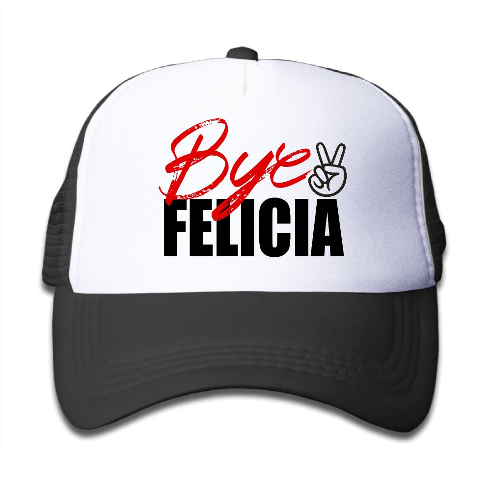 Bye Felicia Adjustable Mesh Polyester Boys Hip-Hop Switch Training Cap Black Halloween Holiday Gifts
