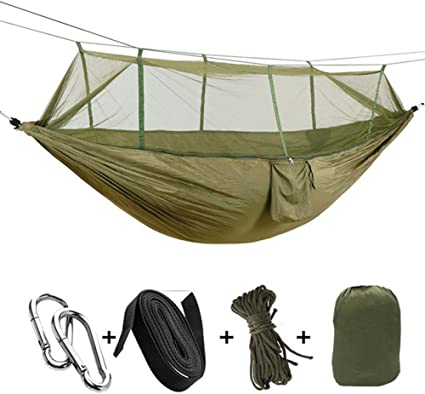 7 Colors Outdoor Mosquito Net Parachute Hammock Camping Hanging Sleeping Bed New