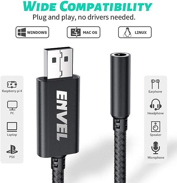 Envel Headset Adapter 3 5 Mm Buchse Auf Usb Stecker Elektronik