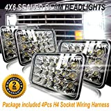 4x6 LED Headlights Rectangule Dot Sealed Beam LEDUR 4x6 Inch CREE LED Headlight