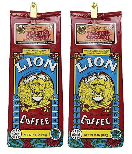 Price comparison product image Lion Coffee Toasted Coconut 10 oz grind (2 Pack)