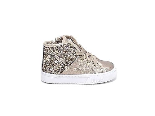 liu jo - Zapatillas para niña dorado Platino dorado Size: 21: Amazon.es: Zapatos y complementos