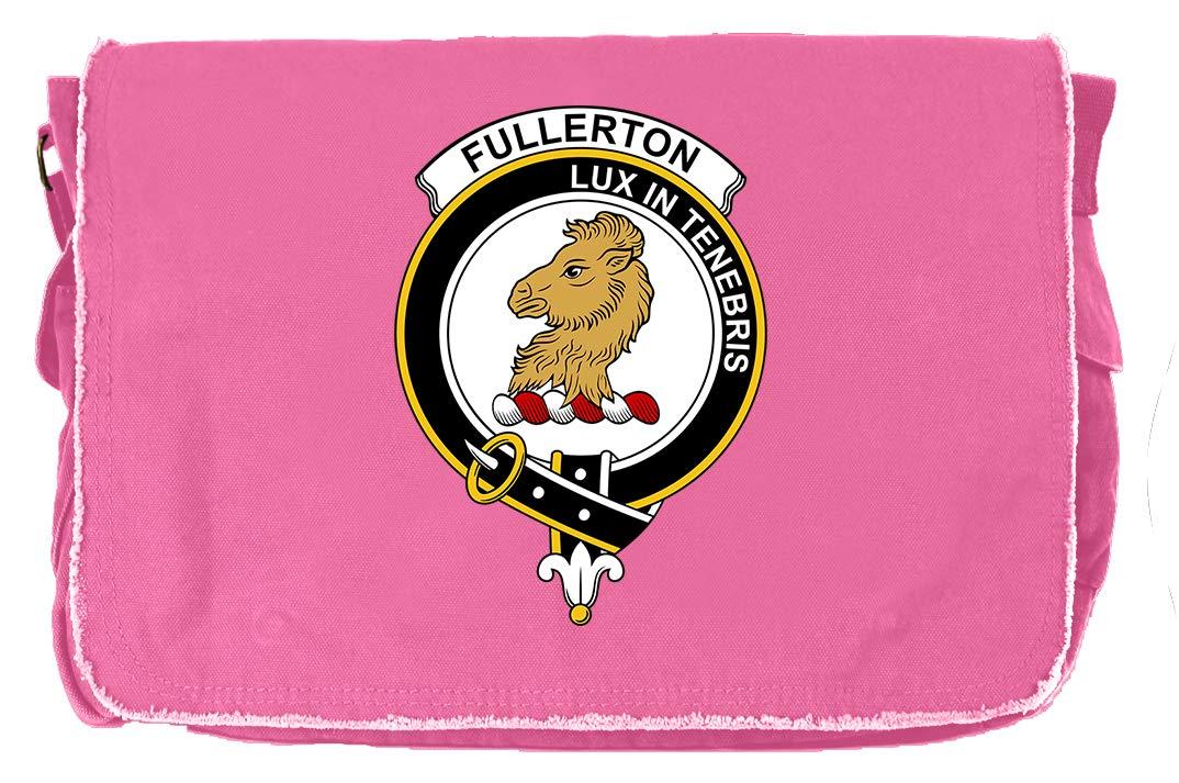 Tenacitee Scottish Clan Crest Badge Fullerton Grey Brushed Canvas Messenger Bag
