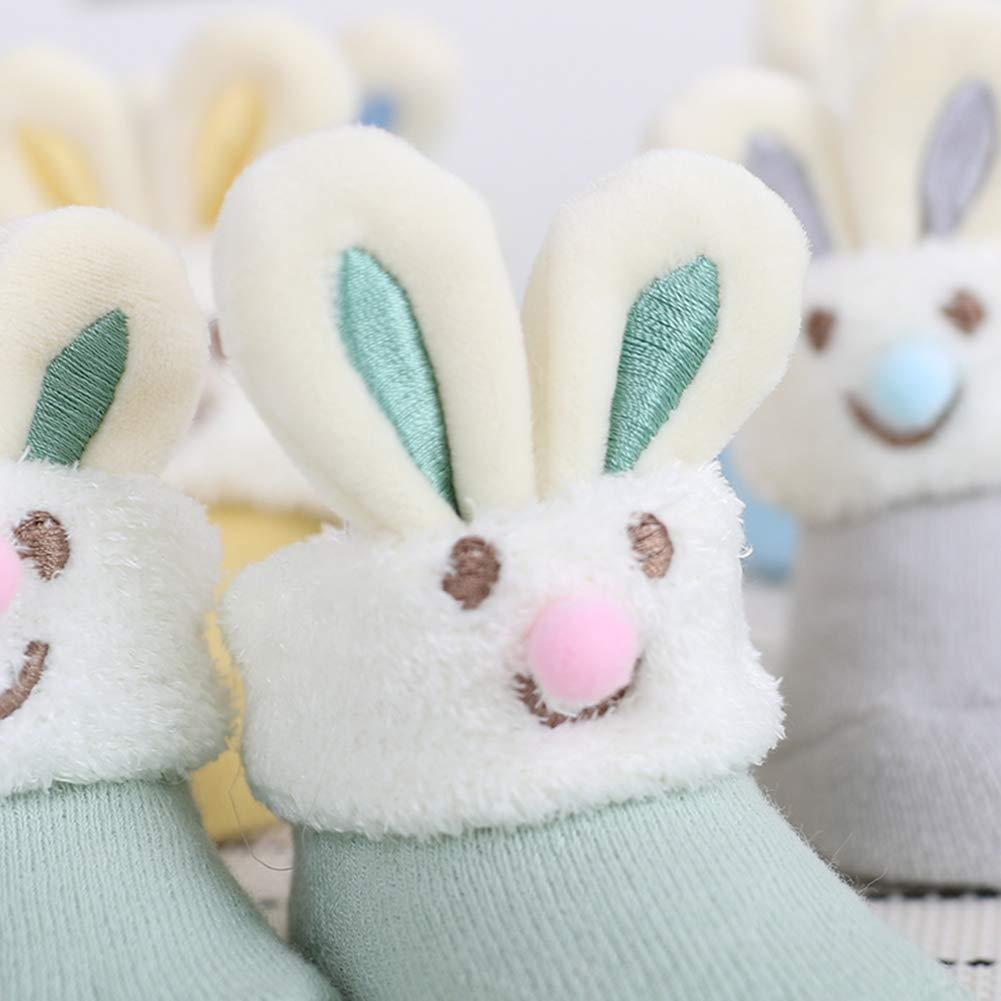 Newborn Baby Girl Socks Cute Cartoon Infants Non-Skid Kid Socks Thanksgiving Or Christmas Gift