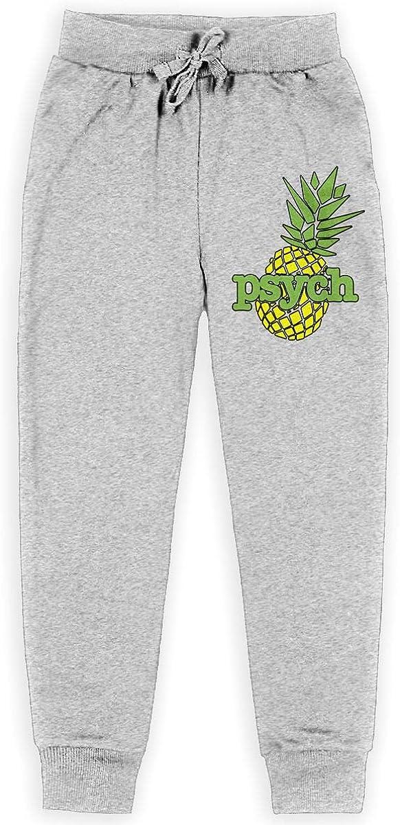 Psych Pineapple Boys Cotton Sweatpants Classic Joggers Pants Active Pants
