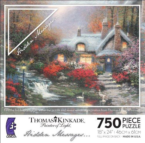 Thomas Kinkade Cottage - Thomas Kinkade Hidden Messages - Evening At Swanbrooke Cottage
