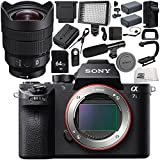 Sony Alpha a7S II Mirrorless Digital Camera with Sony FE 12-24mm f/4 G Lens 18PC Accessory Bundle – Includes 64GB SD Memory Card + 2x Replacement Batteries + MORE