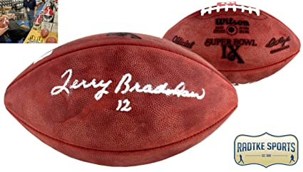 1c2e64d8913 Terry Bradshaw Autographed Signed Pittsburgh Steelers Authentic Super Bowl  IX NFL Football