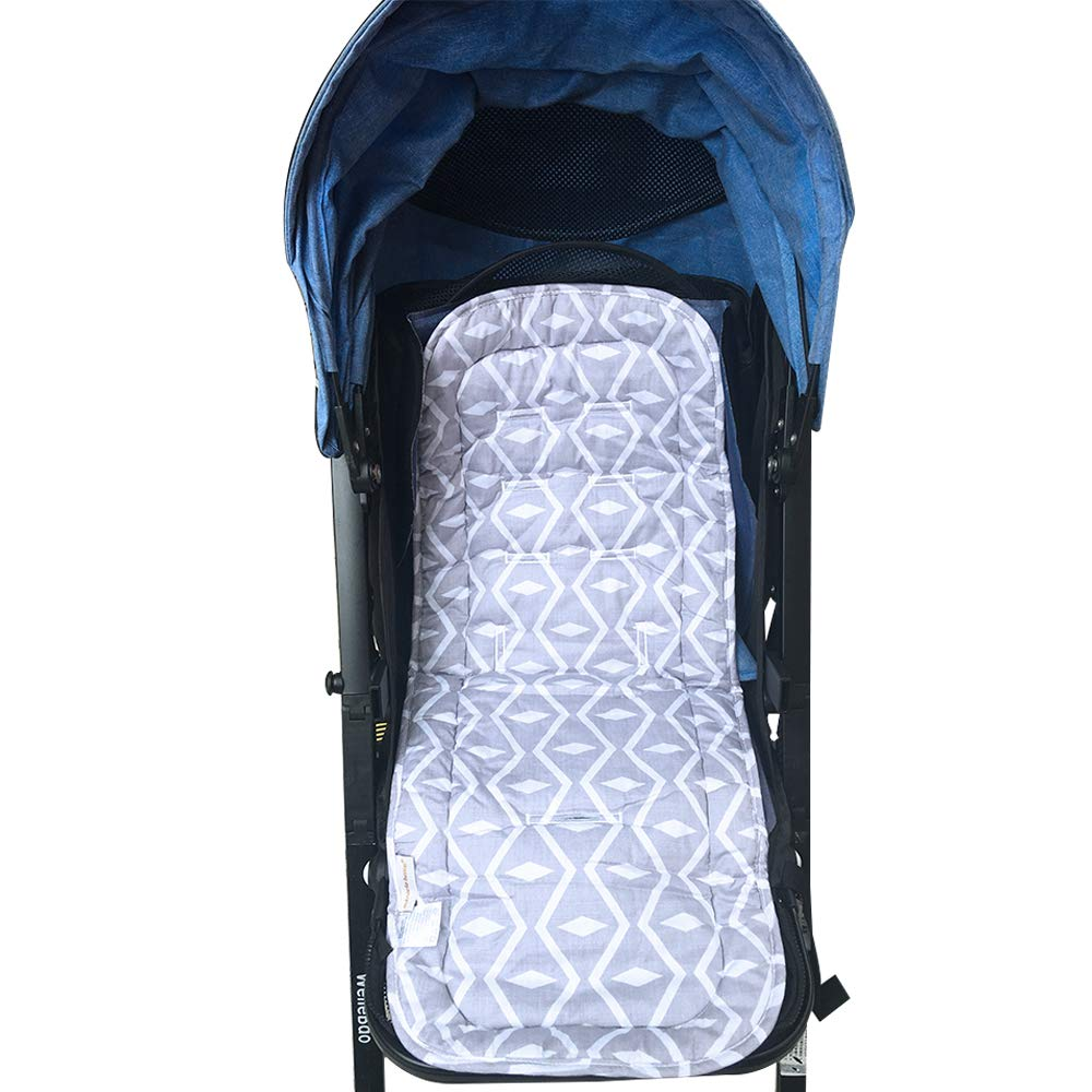 Gray Diamond Baby Stroller Cushion//Car Car Seat Pad//High Chair Seat Cushion Liner Mat Pad Cover Breathable Double Sides Use