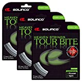 #4: Solinco - Tour Bite Diamond Rough Tennis String Silver - (SOLTBDR:SET)