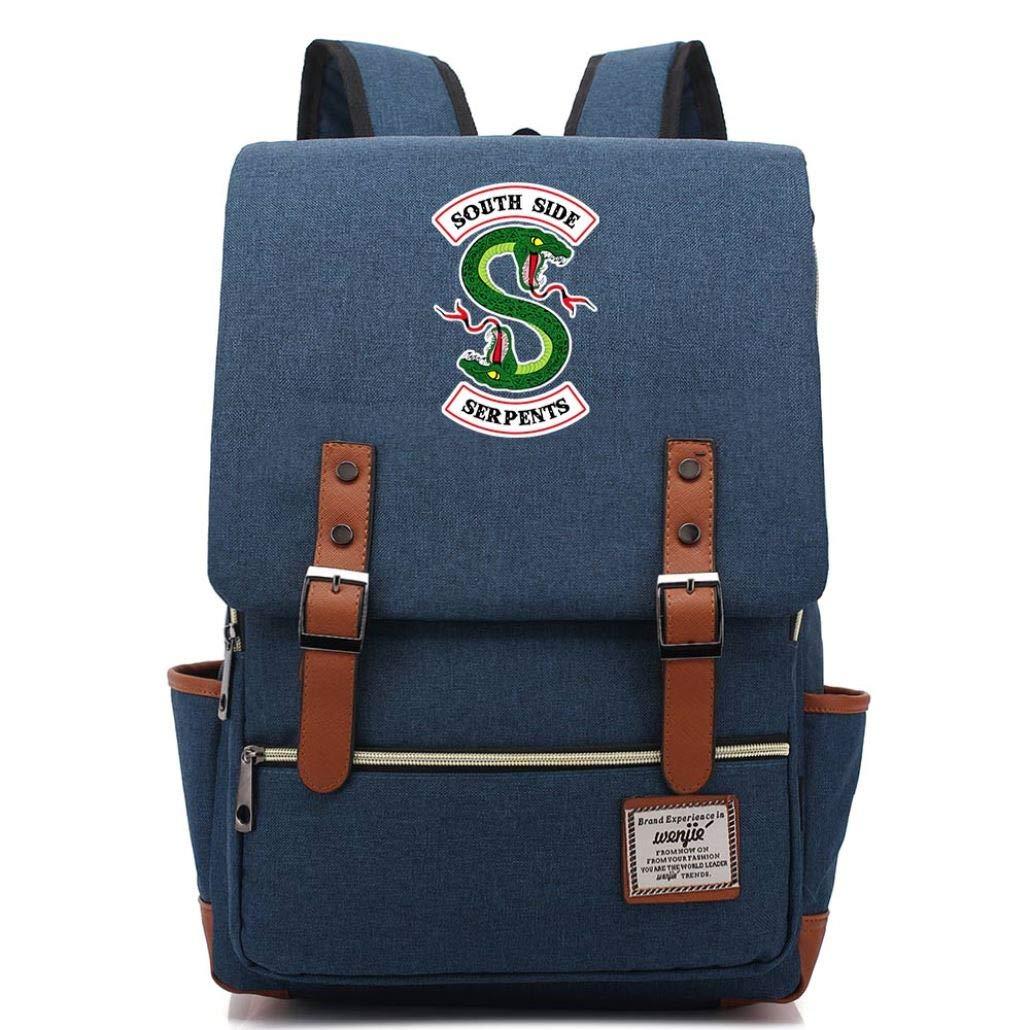 Snake Boy Girl Student School Bag Teenagers Schoolbags Canvas Women Bagpack Men Belt Backpack(12) by eleganceoo
