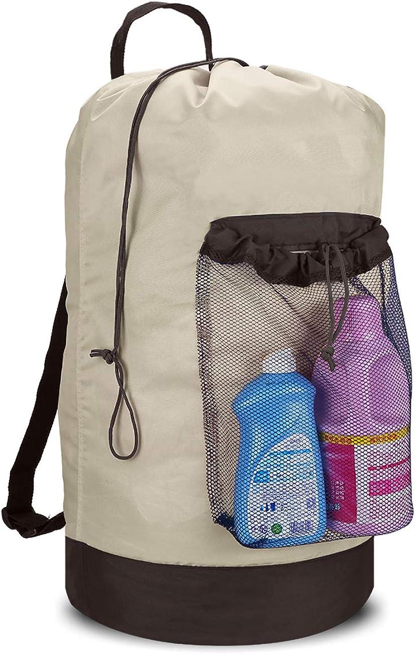 Backpack Laundry Bag, Laundry Backpack with Shoulder Straps Backpack Clothes Hamper Bag
