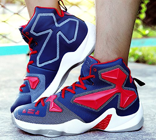 Jiye Performance Sport Shoes Mens Sneakers Da Basket Moda Blu Rosso