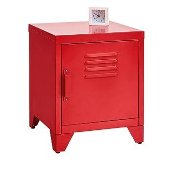 La Redoute Interieurs Chevet En Métal Hiba Unique Rouge Amazonfr