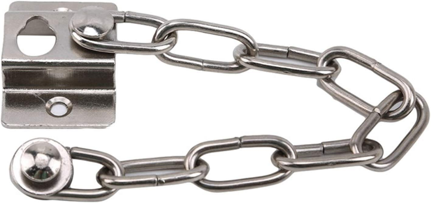 YIWMHE Quality Chain Sturdy Steel Home Safety Nickel Finish with Screw Safety Hotel Door Security Door Anti-Theft Chain