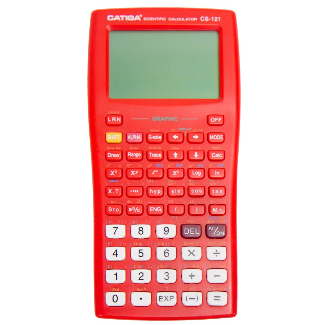 Graphing Calculator - CATIGA CS121 - Scientific and Engineering Calculator - Programmable System (Dark Red)