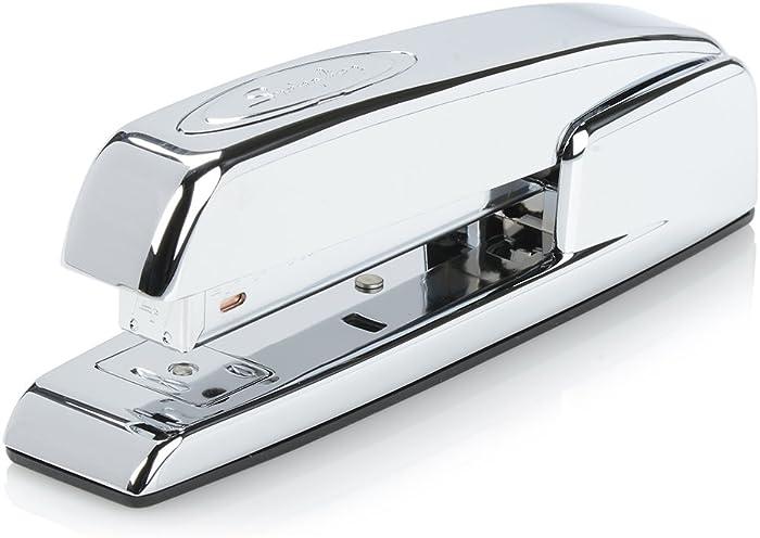 Swingline Stapler, 747 Iconic Desktop Stapler, 25 Sheet Capacity, Chrome (74720)