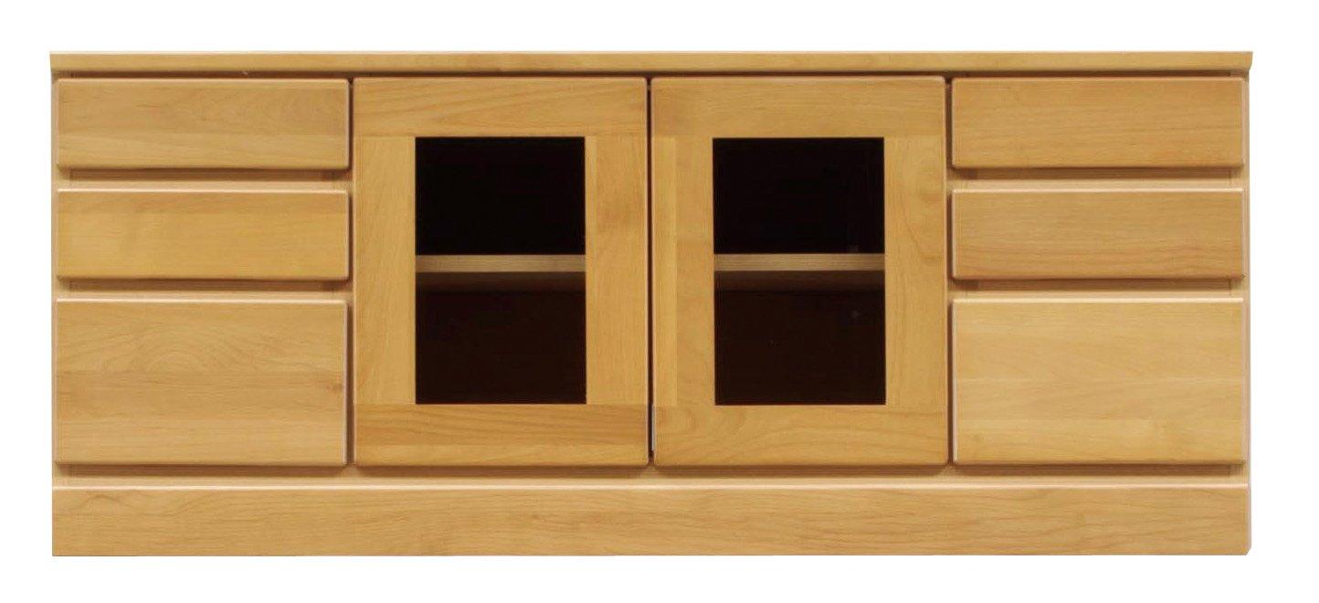 大川家具 ハーティーカンパニー ローボード ポイント 120㎝幅3段 ナチュラル(IC) B018VS8EQ4  120㎝幅ローボード