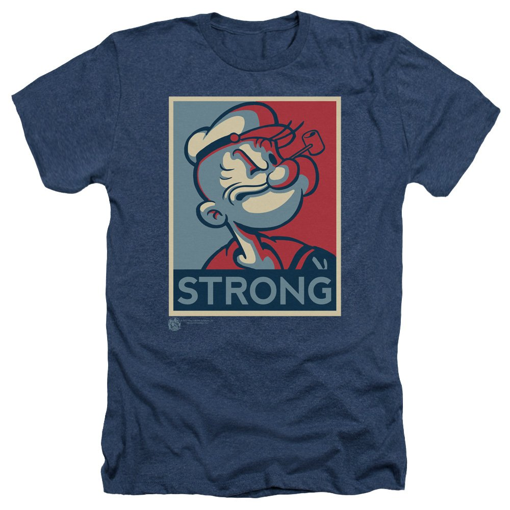 Popeye Strong S Heather Shirt Navy