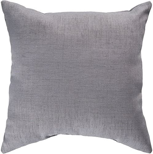 Surya ZZ406-2222 Indoor Outdoor Pillow, 22-Inch by 22-Inch, Gray