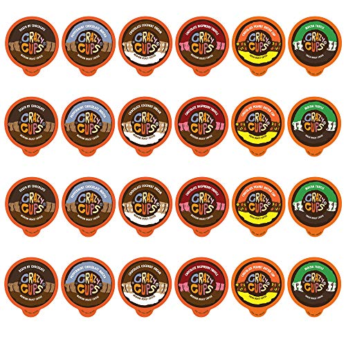 (Crazy Cups Coffee Chocolate Lovers Single Serve Cups Variety Pack Sampler for the K Cup Brewer, 24)