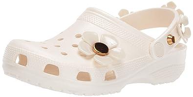 caa2f9d1a6a Amazon.com | Crocs Women's Classic Metallic Blooms Clog | Mules & Clogs