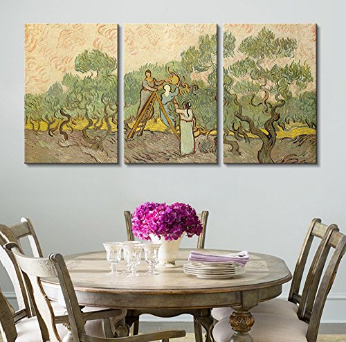 3 Panel Women Picking Olives by Vincent Van Gogh x 3 Panels
