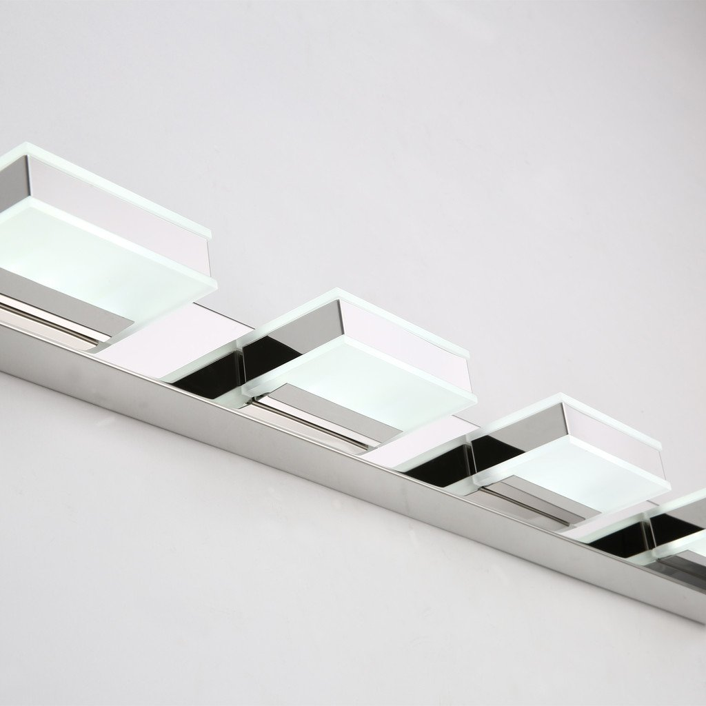 mirrea 16W Modern LED Vanity Light in 4 Lights, Cold White by mirrea (Image #4)