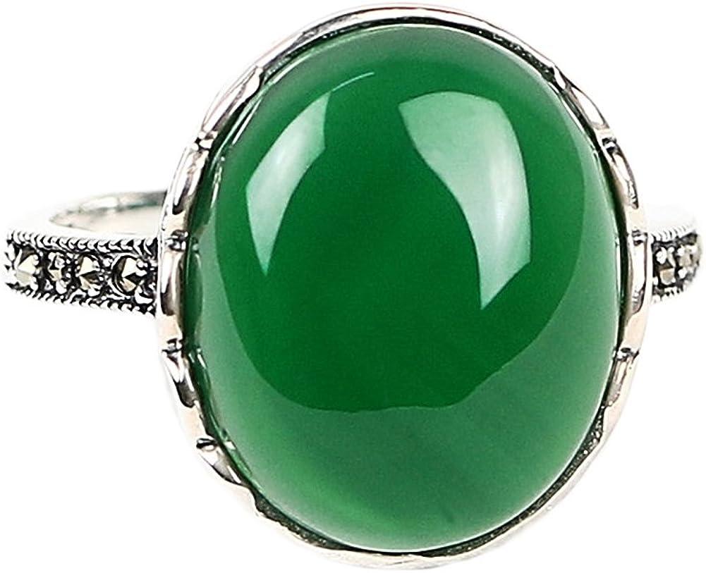 925 Anillo de plata plata tailandesa incrustaciones de piedras preciosas anillo anillo de dedo índice
