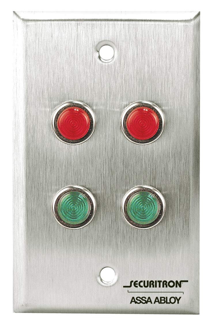 Securitron ZLP-2 Single Gang Two Red Green LED