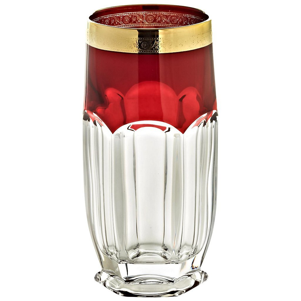 Drinking Glass ''Safari'' ruby 300ml, transparent/ruby, modern style, glass (GERMAN CRYSTAL powered by CRISTALICA)
