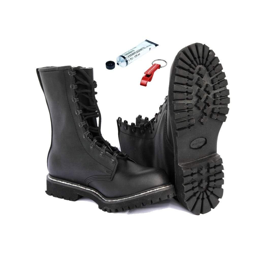 AOS-Outdoor Springerstiefel Kampfstiefel incl. original BW Schuhpflegemittel Schlüsselanhänger