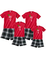 Matching Holiday Family Boxer Loungewear Santa's Family of Elves