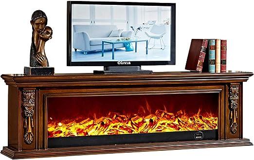 Madera Moderno 3D Realista Fuego Eléctrico Llama LED Efecto ...