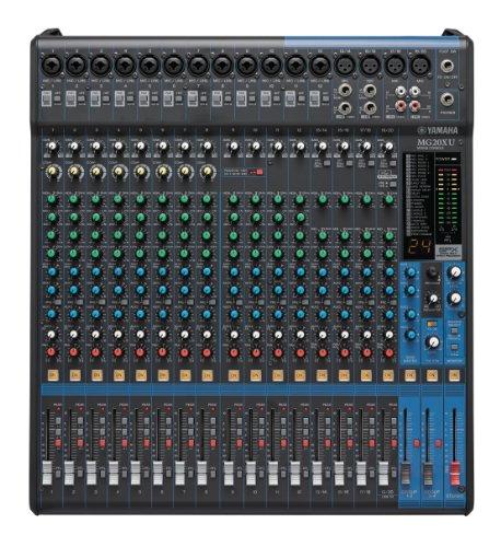 Mixer Bus Analog (Yamaha MG20XU 20-Input 6-Bus Mixer with Effects)