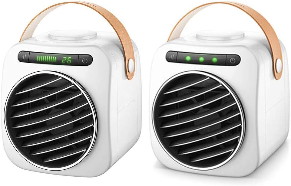 VIVIANU - Mini aire acondicionado portátil sin ruido, pantalla ...