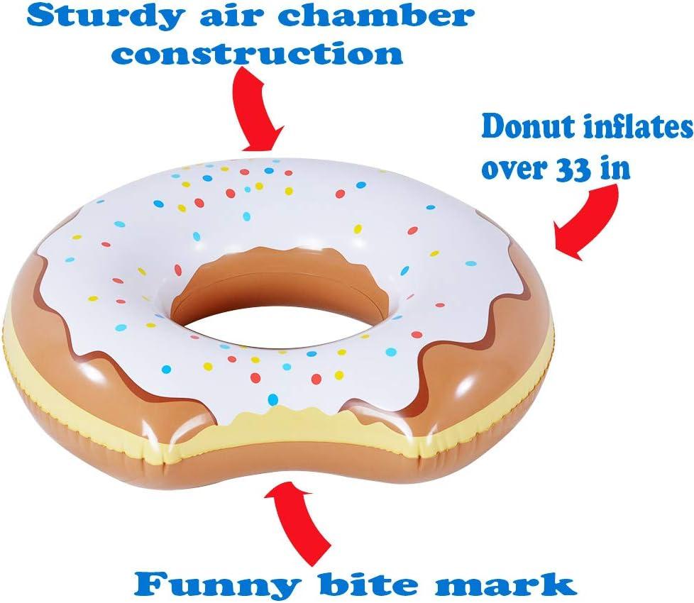 Amazon.com: Donut Flotador, 2 Pack Inflable Donut de 33 ...