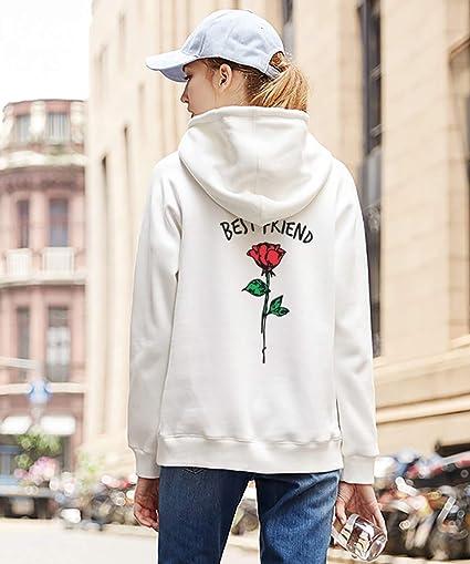 Best Friend Felpa Sister Pullover Coppia Sweatshirt Manica Lunga 2 Ragazze Hoodie con Cappuccio Sweater per Donne Casual Moda Pesante Sportivo