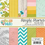 Simple Stories 6222 You are Here Double-Sided Paper Pad (24 Pack) , Multicolor