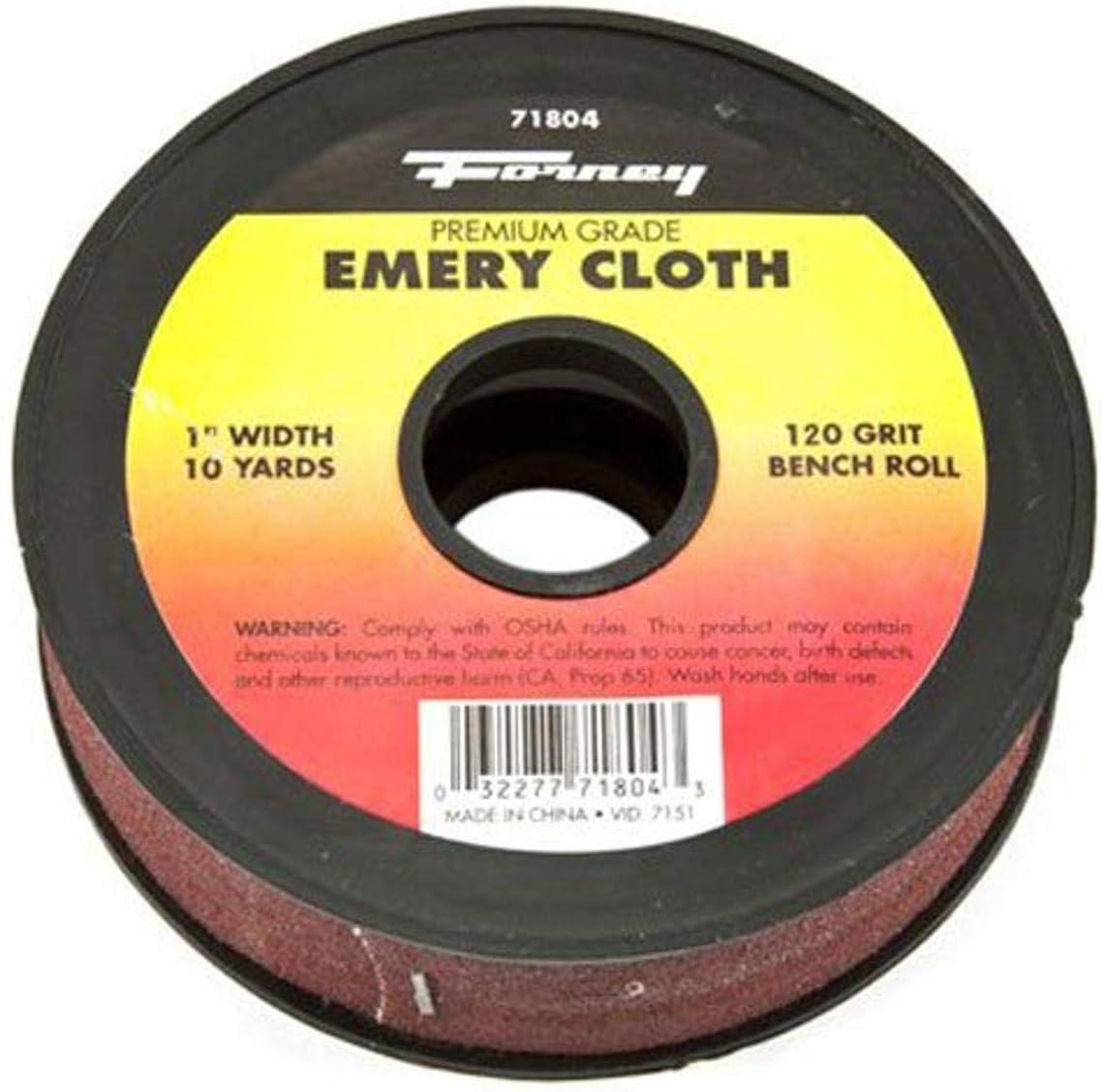 """K-T Industries 5-7422 Emery Cloth Shop Roll 1 /"""" X 10 Yard 180 Grit"""