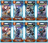 Ace Syndicate(PTCG): 8 Sun & Moon Burning Shadows Blistered Booster Packs (Not Weighed Guaranteed)