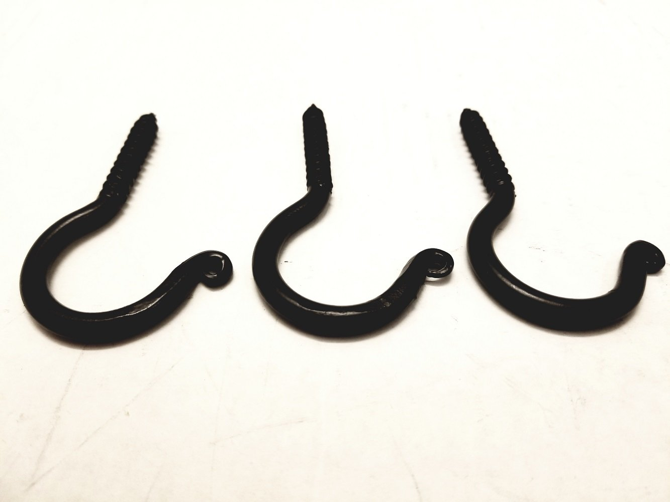 3 Pack Wrought Iron Ceiling Hook Screw Country Primitive Décor - Each Hook is 3'' Long
