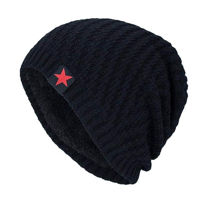 d3fb8ecefd3 Unisex Knit Cap Hedging Head Hat Beanie Warm Knit Caps Female Casual Men  Winter Hats Black