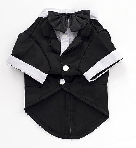 TTWO® Formal Negro Tuxedo estilo cachorro mascota esmoquin ...