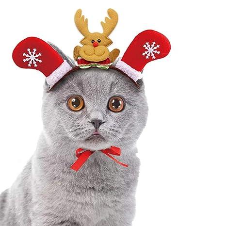 Corbata Langxian Pet Cat Navidad Hefonera Mascota Disfraz para Gatos Accesorios para el Pelo